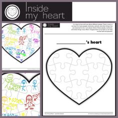 Printable healing heart activity for children. Great for attachment, adjustment, grief and loss, and child to tap into some inner peace. therapy activities for kids social work Grief Activities, Counseling Activities, Art Therapy Activities, Work Activities, Play Therapy, Therapy Tools, Therapy Worksheets, Speech Therapy, Social Emotional Learning