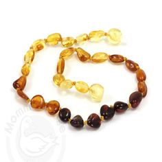 Baltic Amber Teething Necklace- Olive Rainbow Polished - Cute as a Button Baby Boutique Amber Necklace Baby, Teething Necklace For Mom, Baltic Amber Teething Necklace, Natural Teething Remedies, Natural Baby, Organic Baby, Rainbow, Assistant Jobs, Dental Assistant