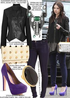 Georgina Sparks Gossip Girl Fashion Edgy Style inspirations brought to you by www. Gossip Girl Fashion, Fashion Tv, Fashion Outfits, Fashion Edgy, Gossip Girls, Fashion Black, Fashion Styles, Fashion Ideas, Vintage Fashion