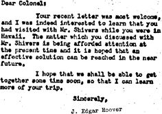 Typewritten stuff from the middle of the 20th century. (This is a genuine scan from a J. Edgar Hoover letter, by the way.)