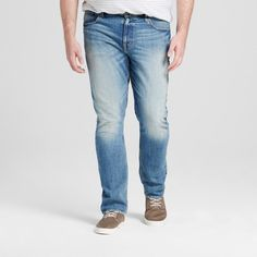 Men's Big & Tall Slim Fit Jeans Light Vintage Wash