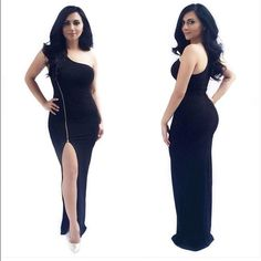 One shoulder zipper dress Sexy dress for that special event. Brand new & never worn Dresses One Shoulder