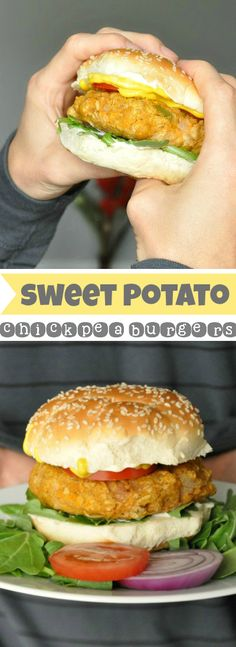 Sweet Potato Chickpea Burgers :: healthy, gluten-free, vegan, and downright delicious!
