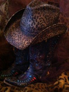 Peter Grimm Leopard Cowboy Hat  www.therhinestoneleopard.com