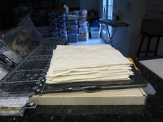 Blocks cut and ready to start crazy quilting!