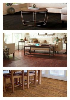 Laminate, vinyl and engineered hardwood flooring come in styles and colors to match any decor. They're also terrific options when you want extra durability and ease of care. Click through for our buying guide to help you choose which type of flooring is right for your home improvement project.
