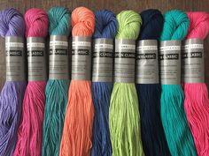 Tahki Cotton Classic New Stock! 5.99+1.25ea Ship Mercerized 100% Cotton Yarn 108yds 10 Colors Cool, Smooth, Washable, Anti-Snag. MSRP 7.65 by HollyPKnits on Etsy Friendship Bracelet Patterns, Friendship Bracelets, Light Spring, Spring Green, Mercerized Cotton Yarn, Yarn For Sale, Thread Bracelets, Arrow Design, Ribbon Art