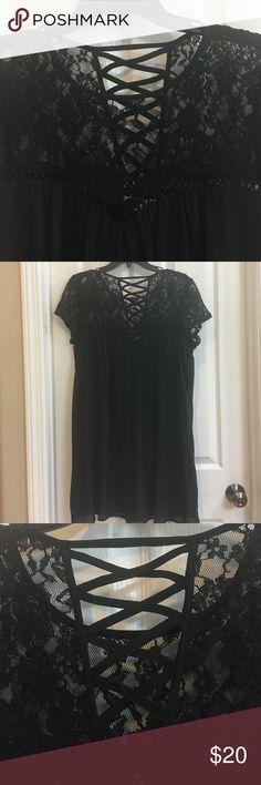 NEW lacy black dress Fully lined black dress Dresses