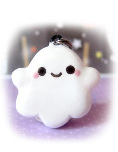 polymer clay ghost charm for Halloween!