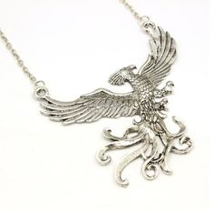 The Phoenix And Harry Potter Necklace Exquisite by Mishakrisha