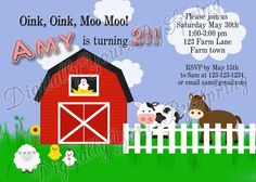Printable Farm Themed Birthday Party by DigitallyUrsbySpring, $11.00