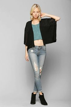 Ecote Death Valley Open-Front Cardigan #urbanoutfitters