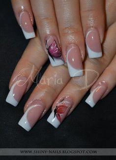 Shiny-Nails by Maria D. Bridal Nails Designs, Nail Tip Designs, Creative Nail Designs, Colorful Nail Designs, Elegant Nails, Stylish Nails, Cute Nails, Pretty Nails, Nails Now