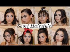 QUICK EASY HAIRSTYLES FOR SHORT HAIR   USING ONLY STRAIGHTENERS   TUTORIAL
