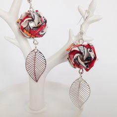 Boucles d'oreille origami - Roses Kawasaki : Boucles d'oreille par alaya-origami