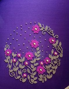 Work design for details embroidery embroidery works hand embroidery designs embroidery patterns work design magazine editorial . Handmade Embroidery Designs, Kurti Embroidery Design, Embroidery Neck Designs, Bead Embroidery Patterns, Hand Work Embroidery, Simple Embroidery, Hand Embroidery Stitches, Ribbon Embroidery, Zardosi Embroidery