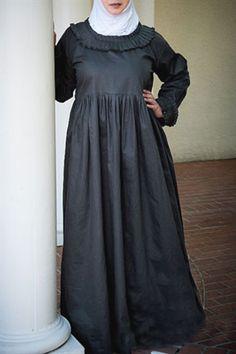 Femininity Plus Size Abaya with Pleated Details - SALE - $19.99 #modest #plussize #fashion #abaya https://www.plussizemuslimah.com/product/pleated-and-practical-abaya-long-dress-gray/