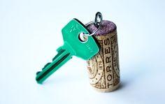 cork-key, cute for housewarming gift!