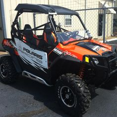 Polaris RzR s 'orange madness' black. Can't wait to hit the trail :)