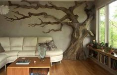 Real tree on the wall!