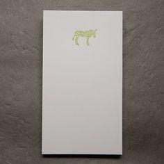 Zebra notepad (Le Typographe)
