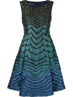 ombré stripe pattern dress