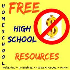 Free Homeschool High School Resources is a round up of resources for homeschooling high school. From curriculum to advice, printables, literature and more.