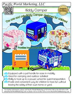 Kiddy Camper - PacificWorldMarketing.com – Products Available for Licensing