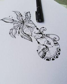 """520 curtidas, 9 comentários - Kefo_Nascimento (@ateliekefonascimento) no Instagram: """"Desenho inicial do leao amandalado, desenvolvido para tatuagem da @thaaaislino. Sofrerá alguns…"""""""