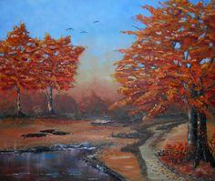 Sérénité d'automne, Huile sur toile www.helenelatour.com