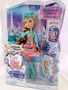 Ever After High Doll Ashlynn Ella Daughter of Cinderella Epic Winter New #Mattel #DollswithClothingAccessories