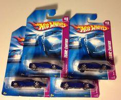 HOT WHEELS 2008 EXOTICS ENZO FERRARI #02/04 BLUE LOT OF 4 Cars  #Mattel #Ferrari
