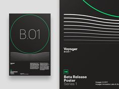Voyager - Beta Poster by Drew Rios #Design Popular #Dribbble #shots