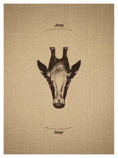 Jeep: Giraffe clever