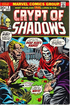 Crypt of Shadows 3 Marvel Comics Grim Reaper Halloween Party Tales Horror Fear Terror Scary Monsters Creepy 1973 LifeofComic #comicbooks