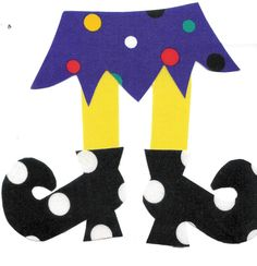 Halloween Witch Shoe with Skirt Applique Template by jammasgirls, $2.50