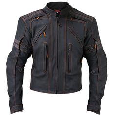 Vulcan Men's VTZ 910 'Street' Motorcycle Matte Black Leather Jacket - X-Large Motorcycle Leather, Biker Leather, Motorcycle Outfit, Leather Men, Leather Jackets, Cowhide Leather, Biker Jackets, Motorcycle Helmets, Leather Coats