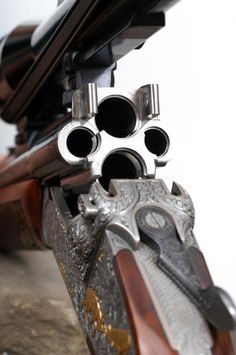 Sweet! | George Hoenig 4-barrel Vierling (two 20 ga. shotgun barrels, one barrel chambered for .22 LR cal. rimfire, and the fourth barrel chambered for .223 Rem. cal.)