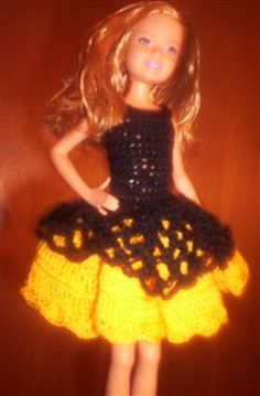 Adorable Poofy Party Dress for Stacie Doll - Crochet Me