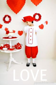 red beret valentines bloomers