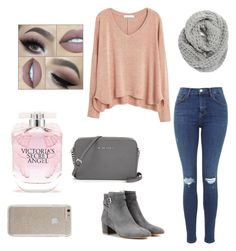 """""""Untitled #19"""" by aryanaalexander on Polyvore featuring MANGO, Halogen, Gianvito Rossi, Victoria's Secret and Case-Mate"""