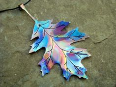 Beautiful Copper Oak Leaf by Marriage of Metal. Can I wear this in my hair, please?