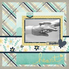 """Layout using """"Heart"""" by Traci Reed for Simple Stories"""
