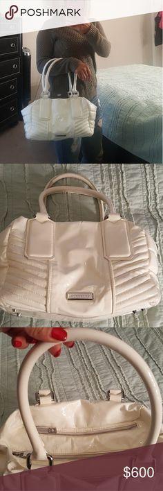 Authentic Burberry handbag Lambskin leather white handbag Burberry Bags Shoulder Bags