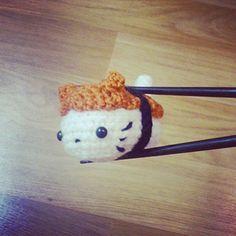 Amigurumi Sushi Cat : Manzoku-san from Neko Atsume! Crochet Project Ideas ...