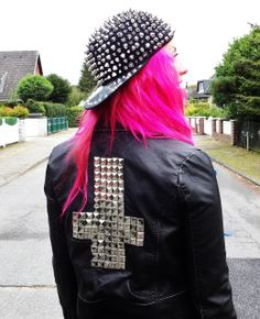 Spiked hat & Studded Leather