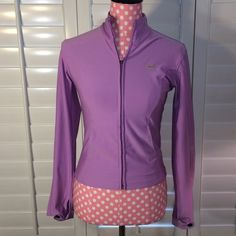 Lavender Nike Zip! Size Xs, fits as small! Great color, only notable wear is small spot as noted in picture. Nike. Additional picture or information requests are always welcomed! ☺️ Nike Jackets & Coats