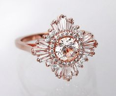 Stunning White Sapphire Ring  Art Deco Great by CharmedbyHeidi, $2250.00