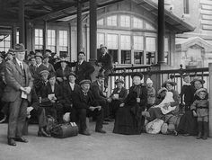 Immigrants at Ellis Island ~ early 1900's ~ waiting for their physical exam.