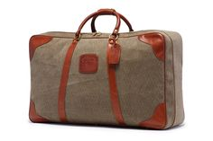 Steward No. 187 - Vintage Dobie Weave Suitcase    GHURKA Leather bags and accessories. www.ghurka.com